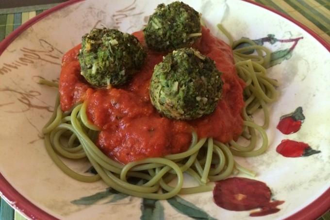 plated meatballs