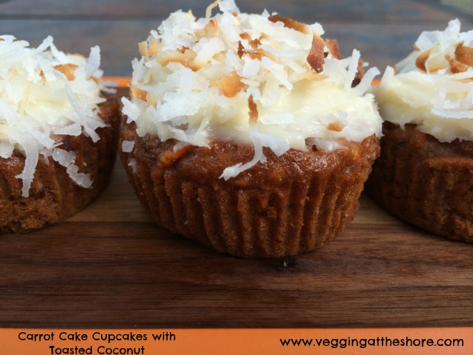 Carrot Cake Cupcakes with Toasted Coconut