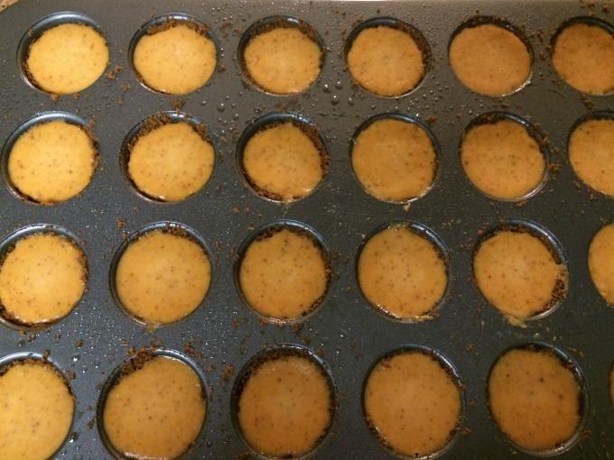 filled muffin tin