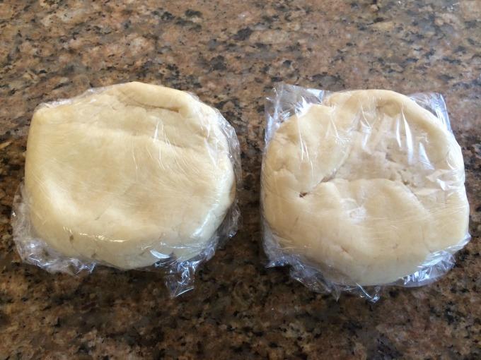Disks of dough