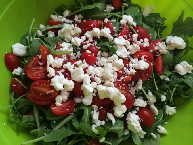 Arugula, Tomatoes and Goat Cheese