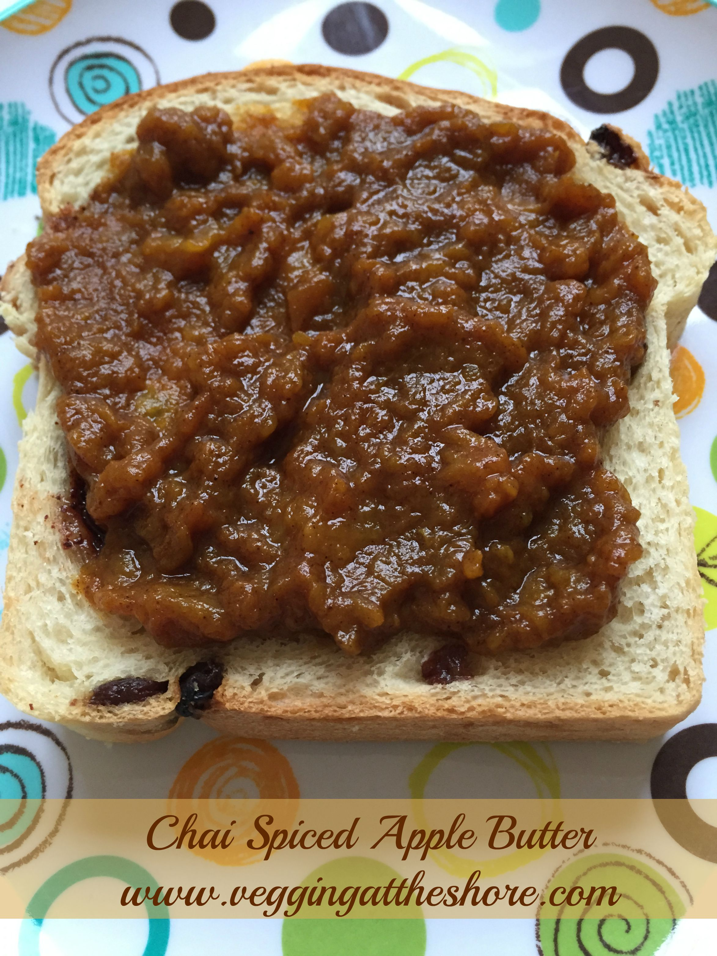Chai Spiced Apple Butter - Vegging at the Shore