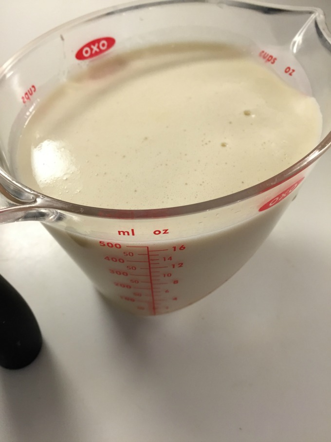 Crepe Batter in Measuring Cup