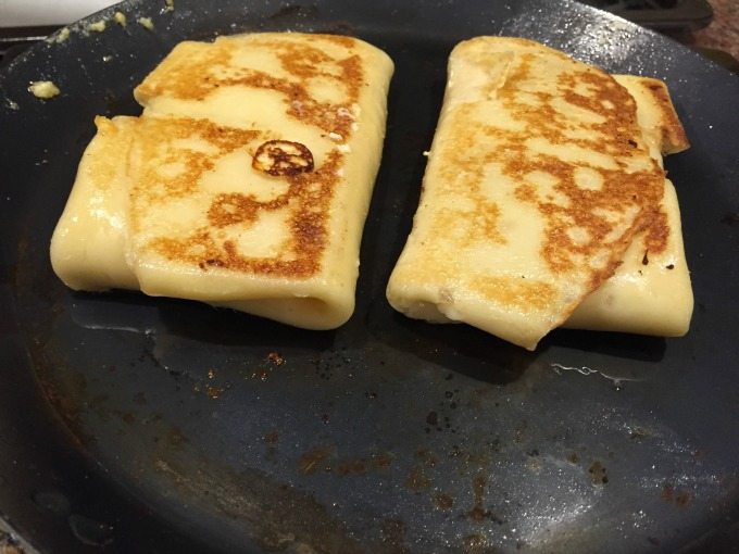 Pan Frying Crepes