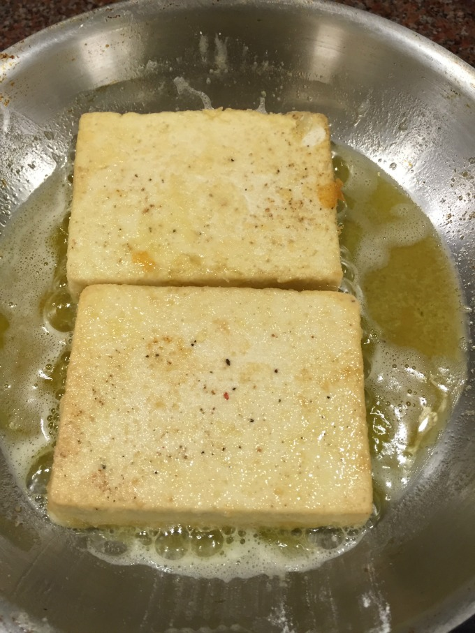 Tofu Cooking in Pan