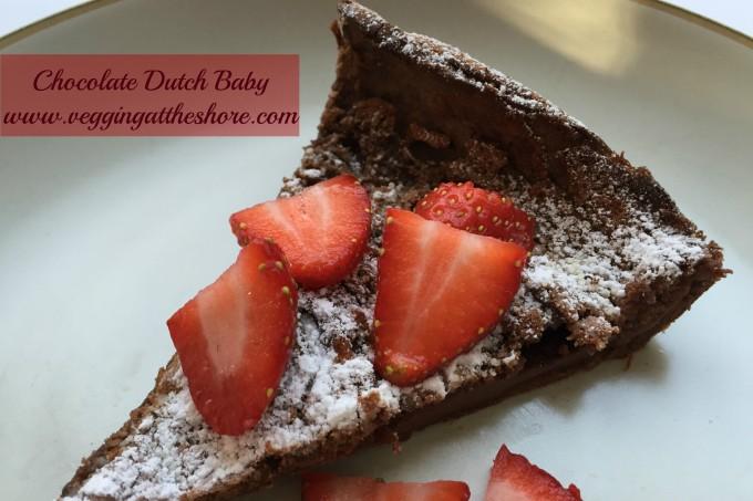Chocolate Dutch Baby Strawberries