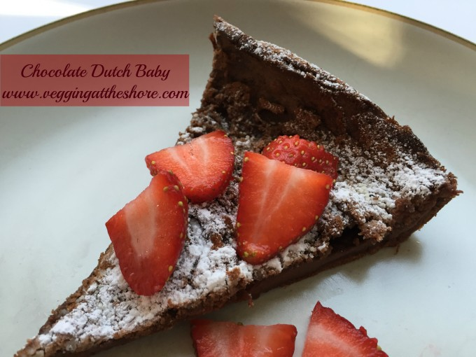 Chocolate Dutch Baby Strawberries