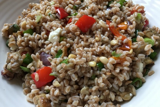 Farro with Roasted Vegetables