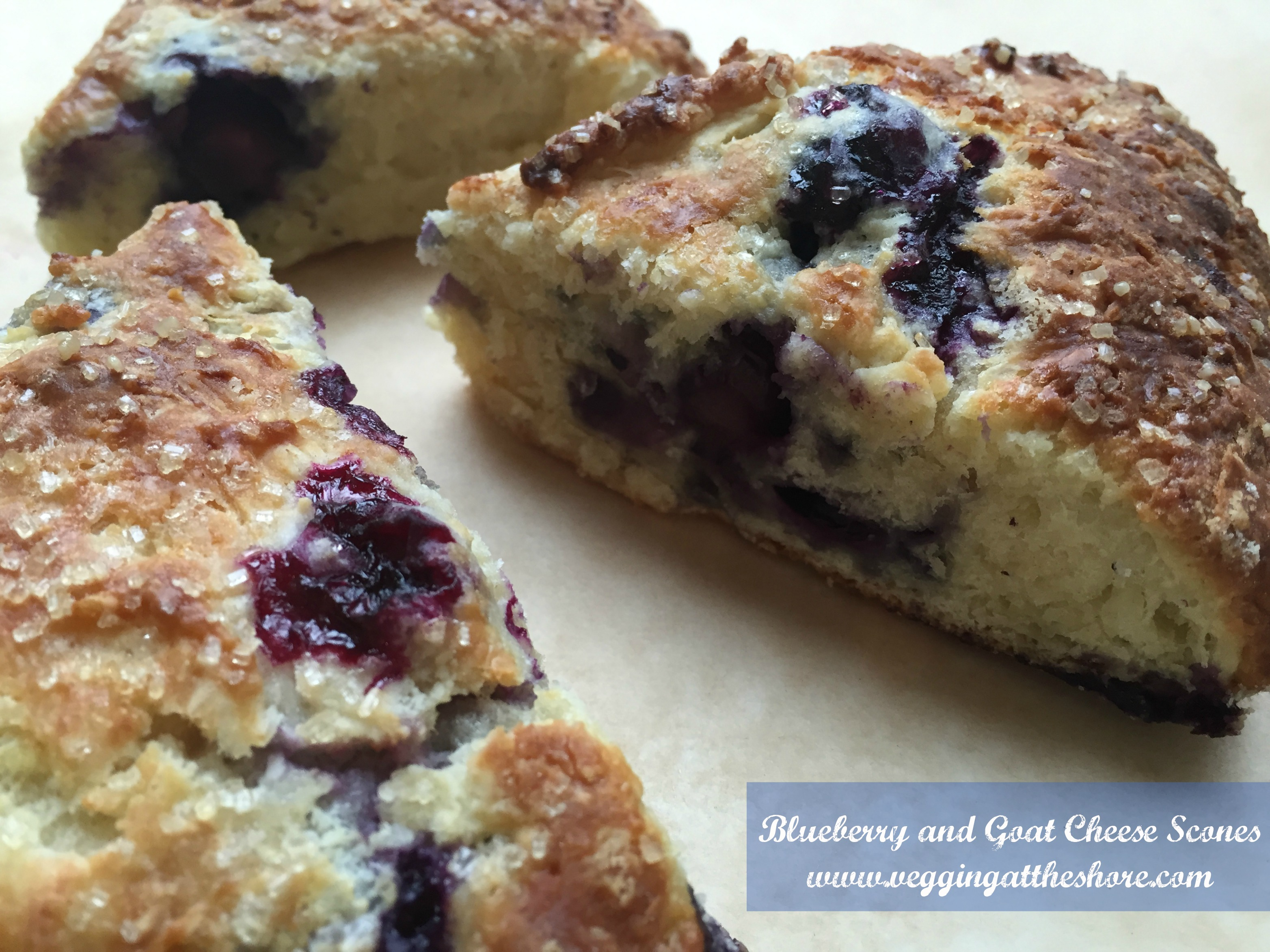 Blueberry and Goat Cheese Scones