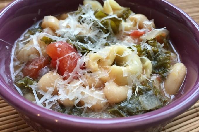 Kale Bean Tortellini Soup