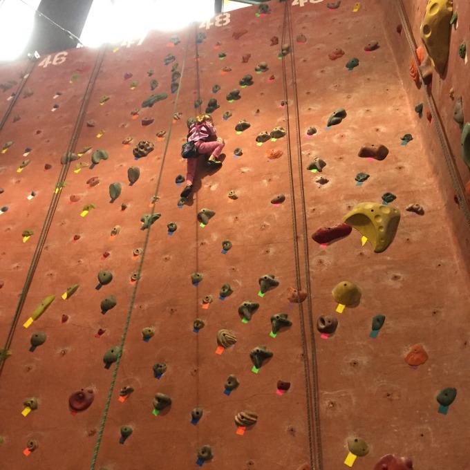 M rock climbing