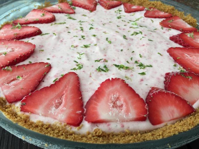 Strawberry Lime Pie