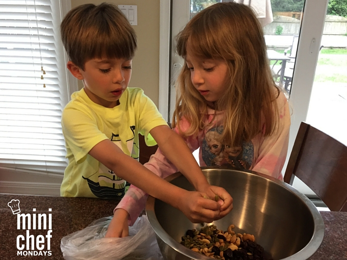 Adding Trail Mix Ingredients