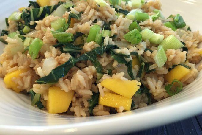 Mango Bok Choy Fried Rice