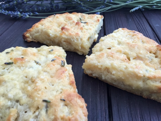 Lavender White Chocolate Scones