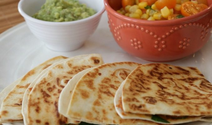 Pressure Cooker Refried Bean Quesadillas