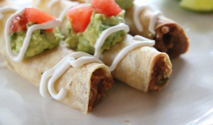 Vegetarian Refried Bean Taquitos